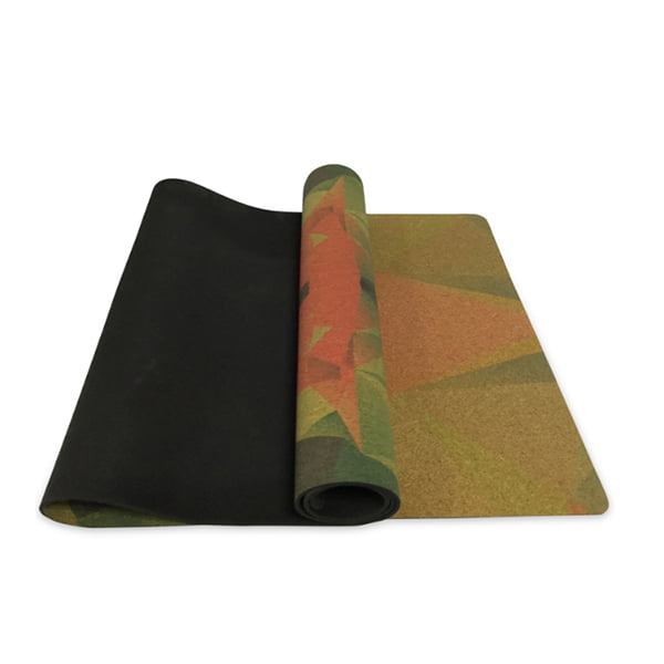 Eco-friendly Non-slip Private Label Natural Printing Cork Rubber Yoga Mat