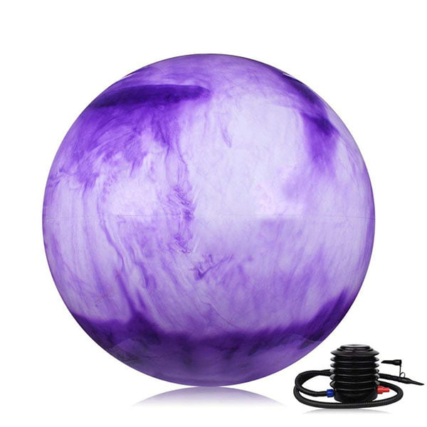 2018 Fitness Inflatable Anti Burst Training Colorful PVC Rainbow Custom Printed Yoga Ball With Pump Set