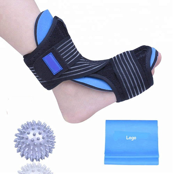 Adjustable Ankle Support Brace Ankle Splint for Drop Foot with Memory Foam Pad