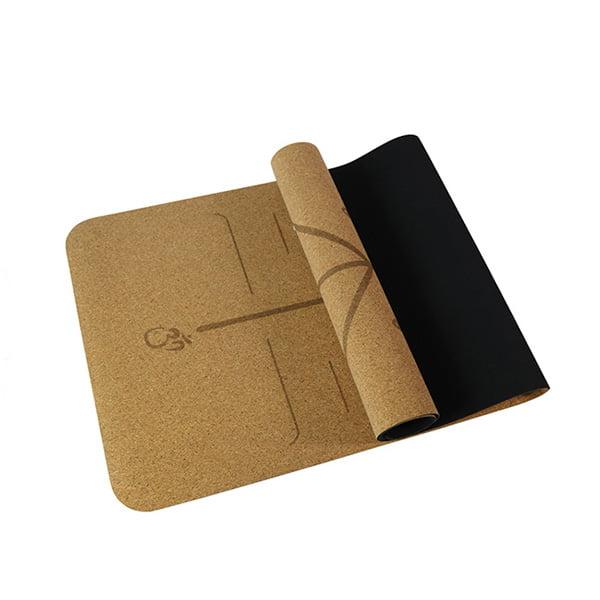 Custom Eco Friendly Antislip Natural Rubber Cork Yoga Mat