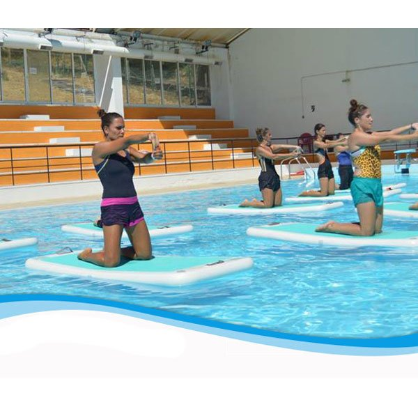 Inflatable Water Yoga Mats Floating Fitness Excise Gymnastics Mat