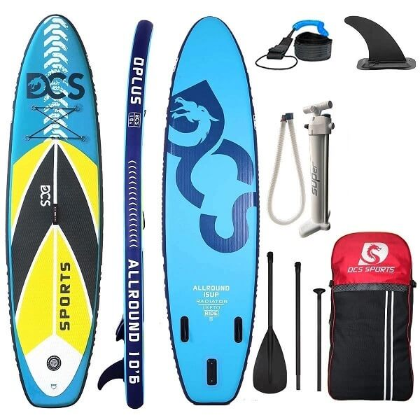 Blue Soft Paddleboard Professional Surfing Inflatable SUP Board