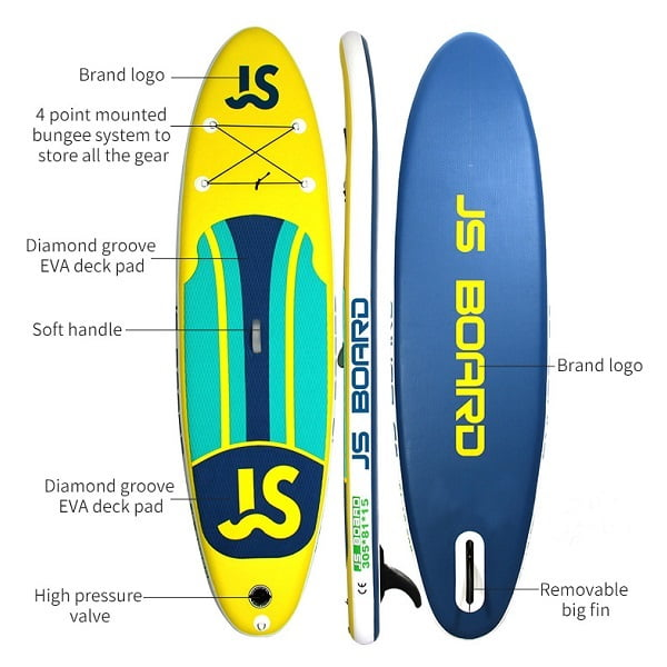 EPS Kids Soft Inflatable Stand Up Paddle Board Surfing Longboard